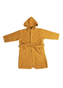 Fürdőköntös - mustársárga (1-2 éves méret)