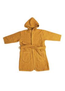 Fürdőköntös - mustársárga (3-4 éves méret)