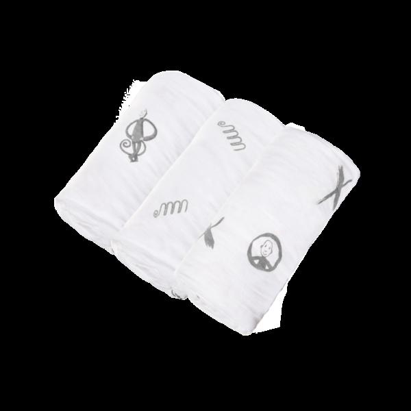 Textilpelenka (3 db/csomag) - szürke