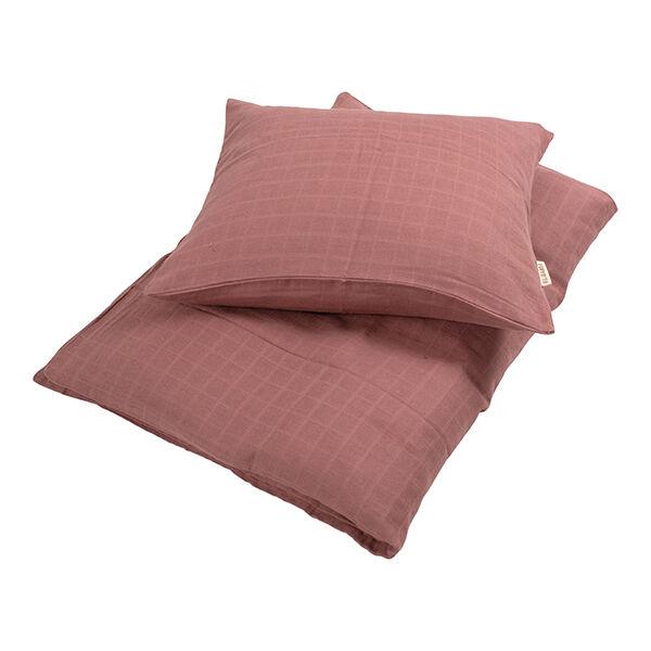 Ágynemű szett (baba) - rózsaszín, muszlin