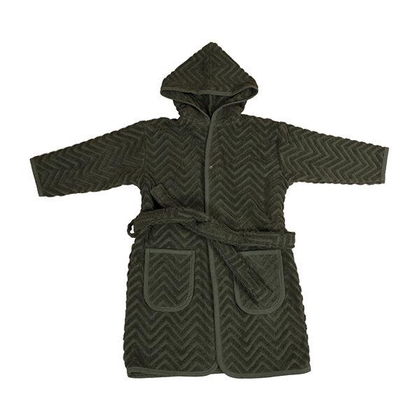 Fürdőköntös - sötétzöld (3-4 éves méret)